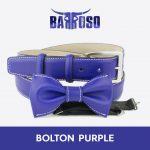 vendita cinture e papillon in vitello spazzolato viola bolton purple