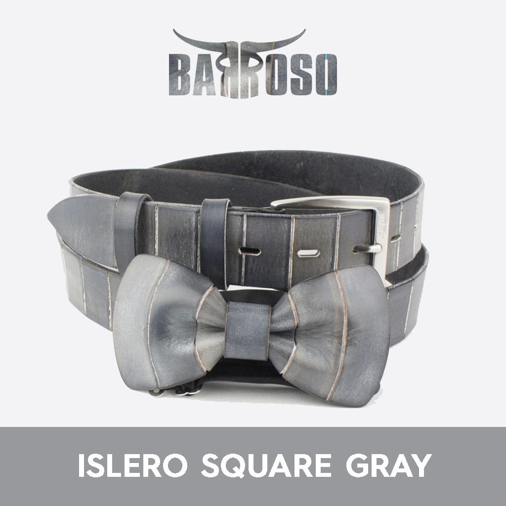 Vendita coordinati cinture e papillon slero square gray
