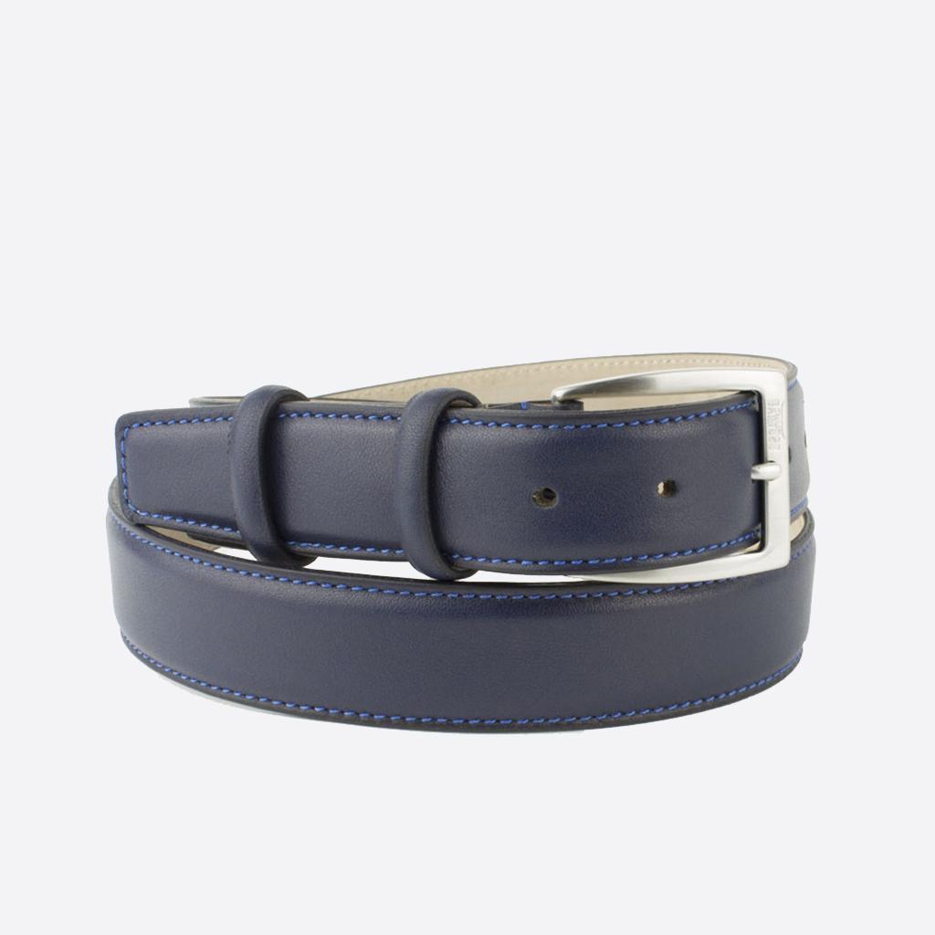 vendita cintura e papillon in cuoio blu scuro bolton blue night