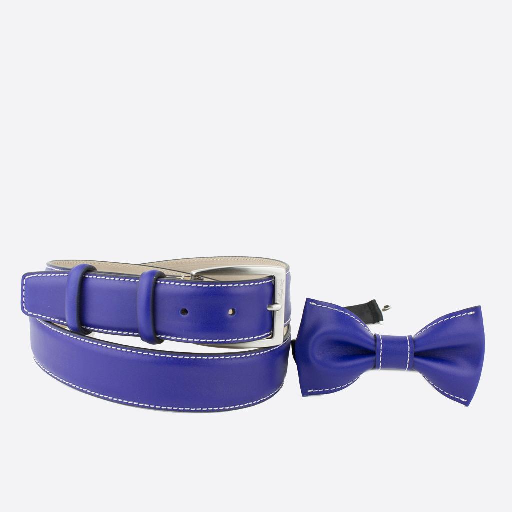 vendita cintura e papillon in cuoio viola bolton purple