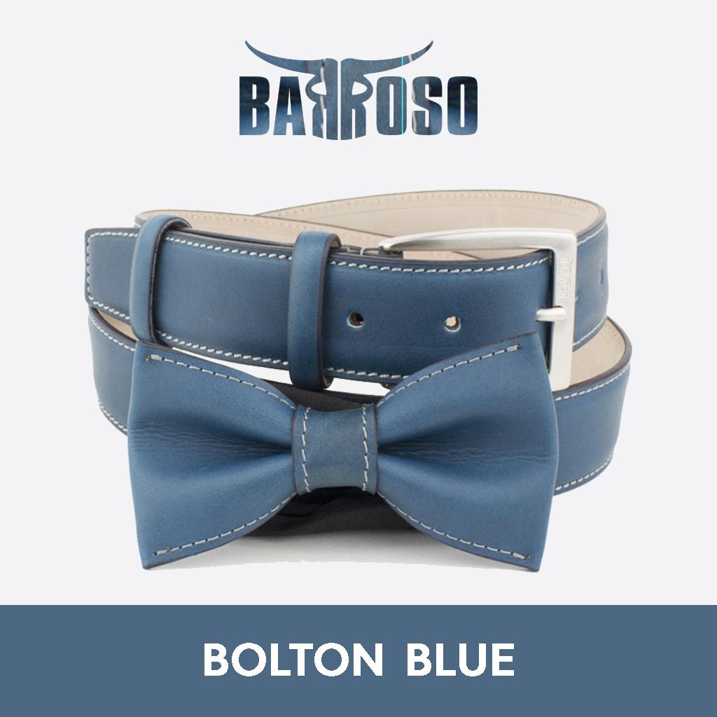 vendita cinture e papillon in pelle bolton blue