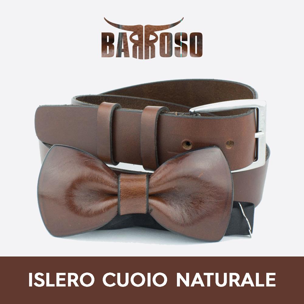 vendita coordinati cintura pappillon islero cuoio naturale