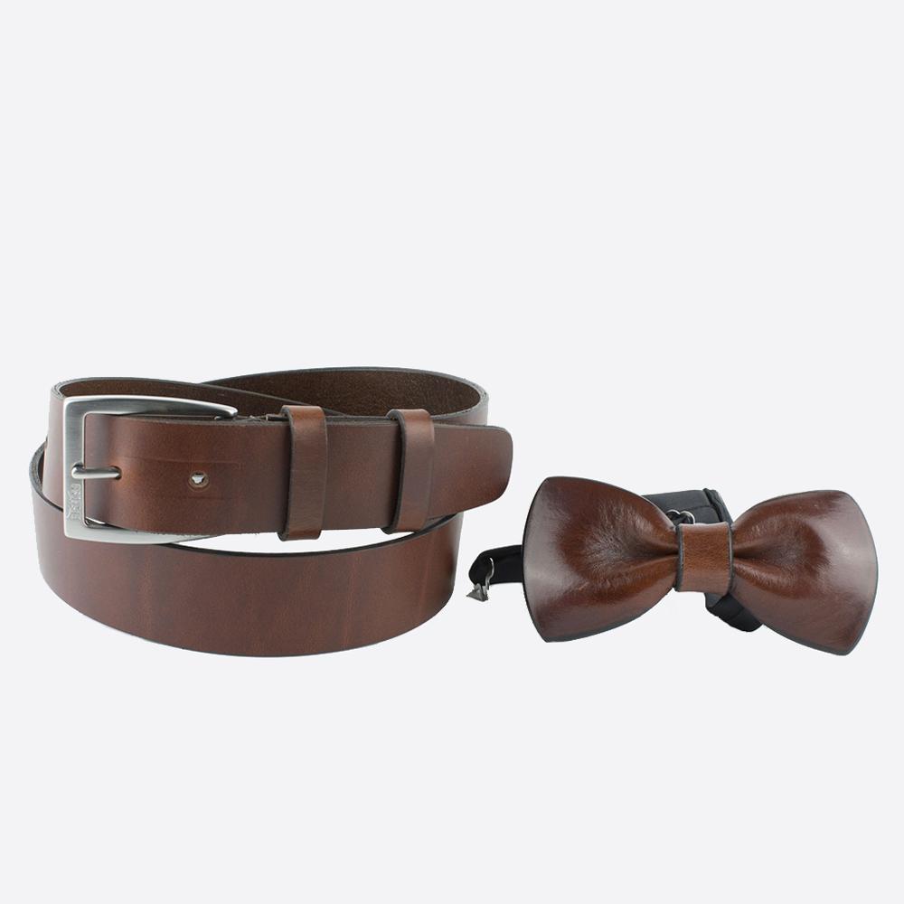 vendita coordinati cintura pappillon islero cuoio naturale 1